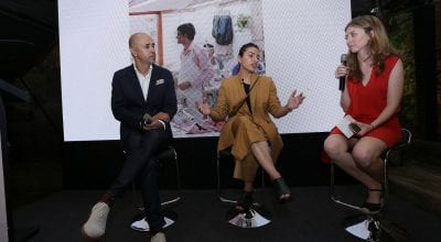 Panel Discussion: From Left - Ajai Vir Singh- Founder and Creator of Colombo Fashion Week, Ruchika Sachdeva- Creative Director, Bodice, Naomi Davenport – Director of Partnerships, India Design Forum.