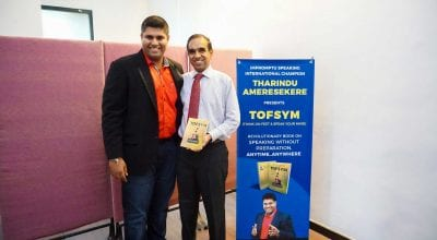 Tharindu Ameresekere Launches TOFSYM - A Book on Public Speaking without Preparation