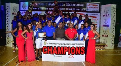 MBA Concludes 35th Inter-Firm Team Badminton Championship 2018 - English