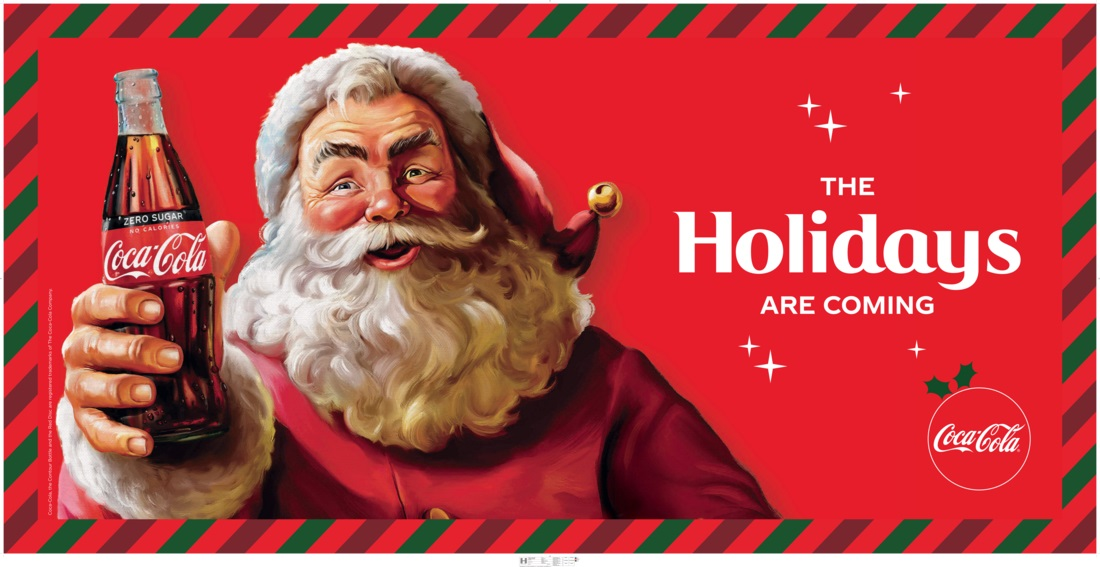 Image result for modern Santa Claus was created by Coca-Cola